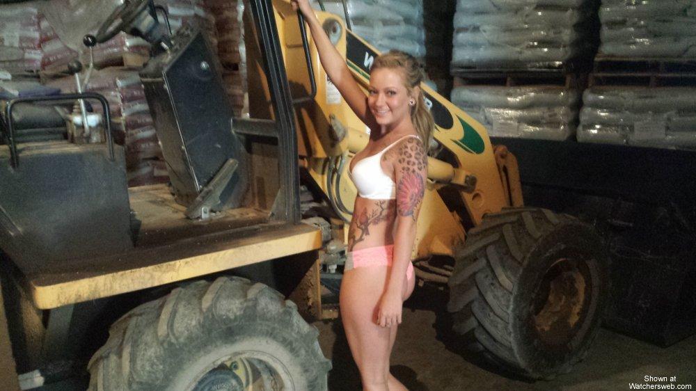 tractor girl bikini